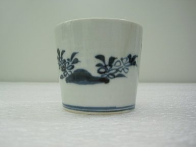 Soba Cup, One from a Set of Five, 19th century. Porcelain with underglaze blue decoration; Arita ware, height: 2 3/8 in. Brooklyn Museum, Gift of the Estate of Charles A. Brandon, 1991.74.25. Creative Commons-BY