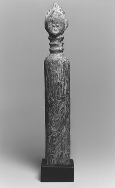 Vai. Commemorative Post, 19th century. Wood, metal, 20 x 3 1/2 in. (50.8 x 8.9 cm). Brooklyn Museum, Gift of Drs. Noble and Jean Endicott, 1992.136.3. Creative Commons-BY