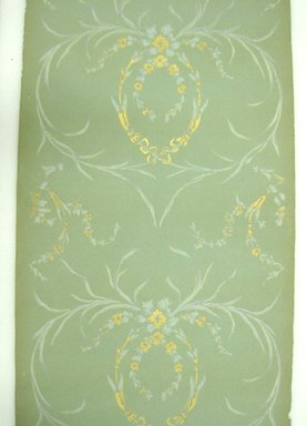 Wallpaper, Ophelia Pattern. Printed paper, Repeat: 22 inches. Brooklyn Museum, Gift of Edwin Ward Bitter, Robert Bitter, Mark Bitter, and Therese Bitter Cook, 1992.153.4