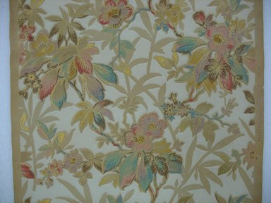 Wallpaper, first half of 20th century. Printed paper, A: 19 7/16 x 24 in. (49.4 x 61 cm). Brooklyn Museum, Gift of Edwin Ward Bitter, Robert Bitter, Mark Bitter, and Therese Bitter Cook, 1992.153.5a-b