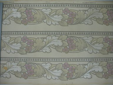 S. A. Maxwell Company. Wallpaper Border Paper, first half of 20th century. Printed paper, Width: 19 1/2 inches. Brooklyn Museum, Gift of Edwin Ward Bitter, Robert Bitter, Mark Bitter, and Therese Bitter Cook, 1992.153.61a-b