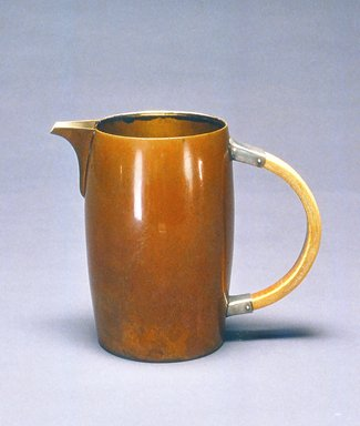 Gorham Manufacturing Company (founded 1865). Pitcher, ca. 1883. Copper, silver, and bone, 6 1/8 x 7 1/4 x 4 in.  (15.6 x 18.4 x 10.2 cm). Brooklyn Museum, Gift of Denis Gallion and Daniel Morris, 1992.165.3. Creative Commons-BY
