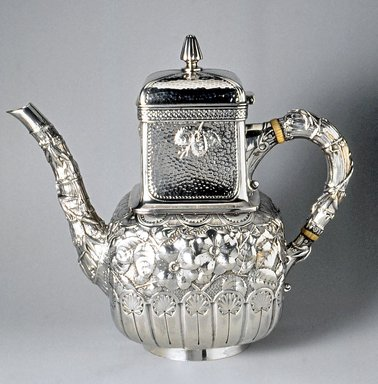 Gorham Manufacturing Company (founded 1865). Coffeepot, ca. 1883. Silver, 8 1/2 x 9 1/2 x 4 3/4 in. (21.6 x 24.1 x 12.1 cm). Brooklyn Museum, H. Randolph Lever Fund, 1992.209. Creative Commons-BY