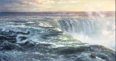 Louis Rémy Mignot (American, 1831-1870). Niagara, 1866. Oil on canvas, 48 3/4 x 91 1/2 in. (123.8 x 232.4 cm). Brooklyn Museum, Gift of Arthur S. Fairchild, 1993.118