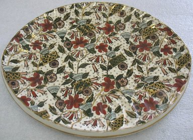 Platter/Underplate, ca. 1880. Glazed earthenware with transfer printed decoration, 1 1/4 x 13 x 10 1/2 in. (3.2 x 33.0 x 26.6 cm). Brooklyn Museum, Gift of Paul F. Walter, 1993.209.142. Creative Commons-BY