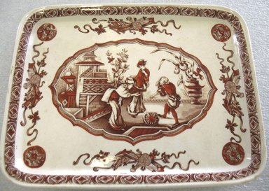 Ridgway, Sparks, & Ridgway. Rectangular Platter; Yeddo Pattern, 1878. Glazed earthenware with transfer printed decoration, 3/4 x 9 3/4 x 7 1/2 in. (1.9 x 34.7 x 19.0 cm). Brooklyn Museum, Gift of Paul F. Walter, 1993.209.34. Creative Commons-BY