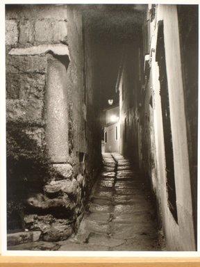 Anatoly Pronin. Calle de Salazar at Night, Jewish Quarter, Cordoba, Spain and Calle de Salazar Jewish Quarter, Cordoba, Spain, 1990. Gelatin silver photograph Brooklyn Museum, Robert A. Levinson Fund, 1993.52a-b. © Anatoly Pronin