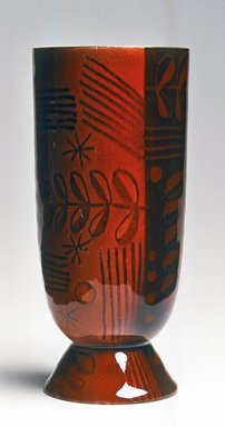 H. Edward Winter (American, 1909-1976, active 1932-1976). Vase, 1949. Copper, enamel, 6 3/4 x 3 x 3 in. (17.1 x 7.6 x 7.6 cm). Brooklyn Museum, Gift of Daniel Morris and Denis Gallion, 1994.117.2. Creative Commons-BY