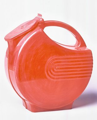 Charles M. Burroughs (American, 1904-1998). Pitcher, Burrite Design, Model #123, ca. 1948. Plastic, 8 1/8 x 7 3/4 x 3 1/8 in.  (20.6 x 19.7 x 7.9 cm). Brooklyn Museum, Gift of Paul F. Walter, 1994.119.17. Creative Commons-BY