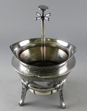Reed & Barton (American, 1840-present). Spoon Holder and Call Bell, ca. 1885. Silverplate and traces of gilt, 8 1/2 x 5 7/8 x 5 5/8 in. Brooklyn Museum, Gift of Paul F. Walter, 1994.119.8. Creative Commons-BY