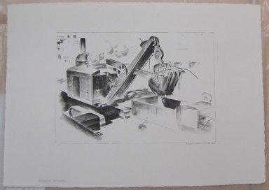 Louis Lozowick (American, born Russia, 1892-1973). Steam Shovel, 1930. Lithograph, Sheet: 14 1/4 x 20 in. (36.2 x 50.8 cm). Brooklyn Museum, Gift of Lee Lozowick, 1994.216.3. © Estate of Louis Lozowick