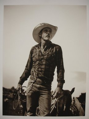 Jill Mathis. Untitled, Rodeo Rider with Lasso, 1993. Selenium-toned gelatin silver photograph, sheet: 14 x 10 3/4 in. Brooklyn Museum, Gift of Ralph Gibson, 1995.127.2. © Jill Mathis