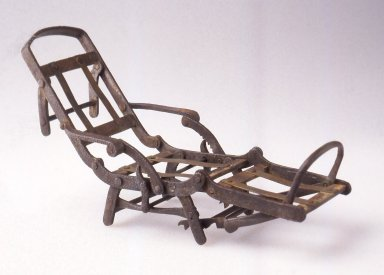 Henry James. Patent Model, Mechanical Chair, ca. 1872. Iron, brass, 1 3/4 x 3 x 9 in. (4.5 x 7.6 x 22.8 cm). Brooklyn Museum, Modernism Benefit Fund, 1995.144. Creative Commons-BY