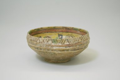 Bowl, 9th-10th century. Ceramic, earthenware, 3 7/16 x 7 1/16 in (diam. at mouth). (8.8 x 18 cm). Brooklyn Museum, Gift of Mena Rokhsar in memory of Ebrahim Khalil Rokhsar, 1995.187.6. Creative Commons-BY