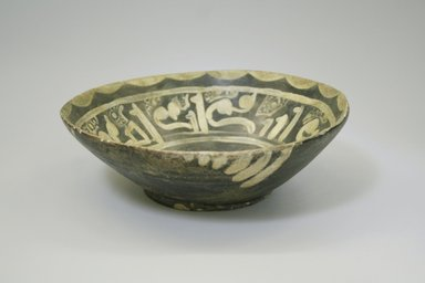 Bowl, 9th-10th century. Ceramic, earthenware, slip, 2 3/4 x 8 1/16 in. (7 x 20.4 cm). Brooklyn Museum, Gift of Mena Rokhsar in memory of Ebrahim Khalil Rokhsar, 1995.187.7. Creative Commons-BY