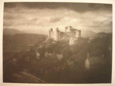 George Davison (English, 1856-1930). Harlech Castle, 1909. Photogravure, image: 6 1/8 x 8 1/4 in. (15.6 x 21 cm). Brooklyn Museum, Gift of Mitchell F. Deutsch, 1995.206.17