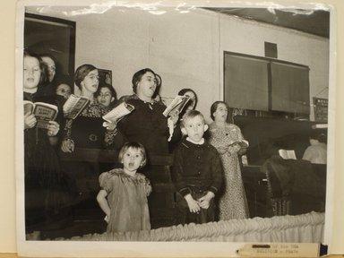 Arthur Rothstein (American, 1915-1985). Choir Singing at Revival Meeting, 1939. Gelatin silver photograph, sheet: 8 x 10 in. (20.4 x 25.4 cm). Brooklyn Museum, Gift of Mitchell F. Deutsch, 1995.206.6