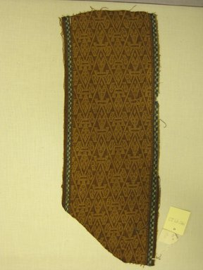Chancay. Textile Fragment, Undetermined, 1400-1532. Cotton, (44.0 x 17.5 cm). Brooklyn Museum, Gift of Kay Hodnett Nunez, 1995.47.20. Creative Commons-BY