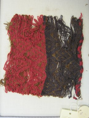 Textile Fragment, Undetermined, 1400-1532. Cotton, camelid fiber, (15.5 x 15.5 cm). Brooklyn Museum, Gift of Kay Hodnett Nunez, 1995.47.69. Creative Commons-BY