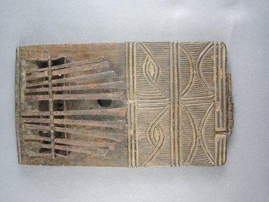 Chokwe. Thumb Piano (Sanza), 20th century. Wood, metal (iron?) keys, 5 3/4 x 3 1/4 x 3 in. (14.6 x 8.3 x 7.6 cm). Brooklyn Museum, Gift of Mr. and Mrs. Lee Lorenz, 1996.202.9. Creative Commons-BY