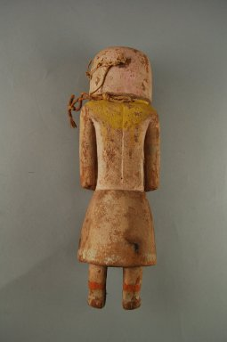 Hopi Pueblo (Native American). Kachina Doll, late 19th -early 20th century. Wood, pigment, 10 1/4 x 3 3/4 x 2 7/8in. (26 x 9.5 x 7.3cm). Brooklyn Museum, Anonymous gift, 1996.22.3. Creative Commons-BY
