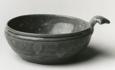 Drinking Bowl, Yue Ware, 265-588 C.E. Glazed stoneware, 2 1/2 x approx. 6 in. Brooklyn Museum, Gift of George and Katharine Fan, 1996.26.18. Creative Commons-BY