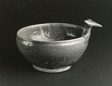 Drinking Bowl, Yue Ware, 265-588 C.E. Glazed stoneware, 2 3/8 x 6 1/2in. (6 x 16.5cm). Brooklyn Museum, Gift of George and Katharine Fan, 1996.26.8. Creative Commons-BY
