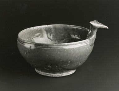 Drinking Bowl, Yue Ware, 265-588 C.E. Glazed stoneware, 4 1/8 x 6 7/8 in. Brooklyn Museum, Gift of George and Katharine Fan, 1996.26.9. Creative Commons-BY