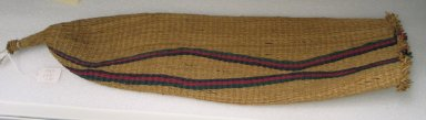 Zulu. Beer Strainer, mid-20th century. Woven grass, dye, L: 25 in. (63.5 cm). Brooklyn Museum, Anonymous gift, 1997.103.12. Creative Commons-BY