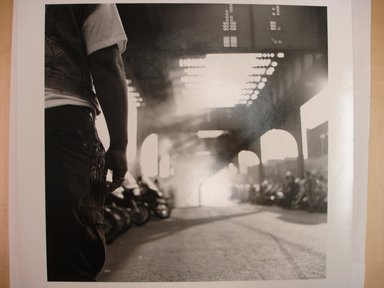Martin Dixon (American, born 1965). The Drag Strip, Livonia Avenue, Brooklyn, N.Y., 1993. Gelatin silver photograph, image: 9 x 9 in. (22.8 x 22.8 cm). Brooklyn Museum, Purchased with funds given by Karen B. Cohen, 1997.17. © Martin Dixon