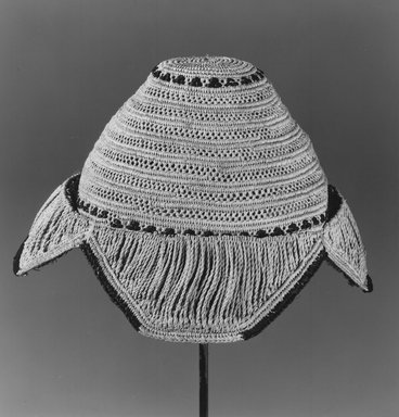 Kuba. Man's Hat (Laket Ladiish Dimbo), before 1958. Fiber, H: 4 in. (10.2 cm). Brooklyn Museum, Gift of Lotte and Al Blaustein, 1997.20.1. Creative Commons-BY