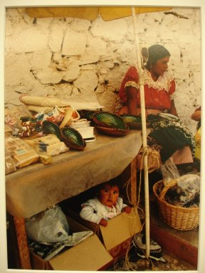Vivian Cherry (American, born 1920). Isla de Janitzia - Infant Under Table, 1995. Chromogenic dye coupler photograph, sheet:  9 3/4 x 8 in.  (24.8 x 20.3 cm);. Brooklyn Museum, Gift of Steven Schmidt, 1998.10.1. © Vivian Cherry
