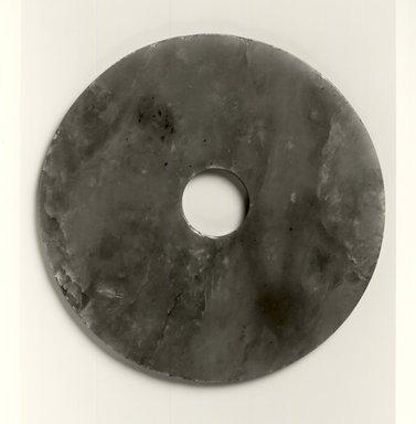 Bi Disk, n.d. Glass, 1/8 x 4 1/2 in. (0.3 x 11.4 cm). Brooklyn Museum, Gift of Lisun Pan, 1998.14. Creative Commons-BY