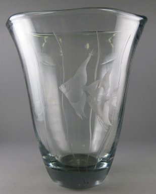 Orrefors Glasbruk (founded 1898). Vase, 20th century. Glass, 10 x 9 x 9 in.  (25.4 x 22.9 x 22.9 cm). Brooklyn Museum, Gift of Jason and Susanna Berger, 1999.103.32. Creative Commons-BY