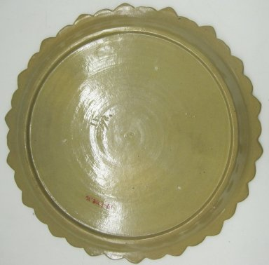 Plate, 19th or 20th century. Glazed earthenware, 1 1/8 x 10 1/4 x 10 1/4 in. (2.9 x 26 x 26 cm). Brooklyn Museum, Gift of Paul F. Walter, 1999.108.16. Creative Commons-BY