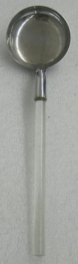 Russel Wright (American, 1904-1976). Shallow Serving Spoon,  from a Five Piece Set of Serving Utensils, ca. 1935. Stainless steel and Lucite, 3 x 14 1/4 x 4 in. (7.6 x 36.2 x 10.2 cm). Brooklyn Museum, Gift of Paul F. Walter, 1999.108.31. Creative Commons-BY