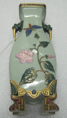 Worcester Royal Porcelain Co. (founded 1751). Vase, 1874. Porcelain, 14 1/8 x 5 3/4 x 4 1/2 in. (35.9 x 14.6 x 11.4 cm). Brooklyn Museum, Gift of the Estate of Harold S. Keller, 1999.152.203. Creative Commons-BY