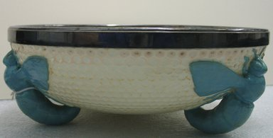 Josiah Wedgwood & Sons Ltd. (founded 1759). Bowl, ca. 1890. Glazed earthenware, silver, 3 7/8 x 10 1/4 x 10 1/4 in. (9.8 x 26 x 26 cm). Brooklyn Museum, Gift of the Estate of Harold S. Keller, 1999.152.227. Creative Commons-BY