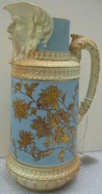 Worcester Royal Porcelain Co. (founded 1751). Mask Spout Jug, 1892. Porcelain, 10 x 6 x 4 7/8 in. (25.4 x 15.3 x 12.4 cm). Brooklyn Museum, Gift of the Estate of Harold S. Keller, 1999.152.251. Creative Commons-BY