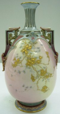 Worcester Royal Porcelain Co. (founded 1751). Vase, 1891. Porcelain, 9 1/2 x 5 1/2 x 5 in. (24.1 x 14 x 12.7 cm). Brooklyn Museum, Gift of the Estate of Harold S. Keller, 1999.152.267. Creative Commons-BY
