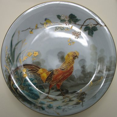 Plate, late 19th century. Porcelain, 3/4 x 9 1/8 x 9 1/8 in. (1.9 x 23.2 x 23.2 cm). Brooklyn Museum, Gift of the Estate of Harold S. Keller, 1999.152.295. Creative Commons-BY