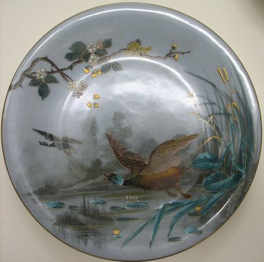 Plate, late 19th century. Porcelain, 7/8 x 9 1/8 x 9 1/8 in. (2.2 x 23.2 x 23.2 cm). Brooklyn Museum, Gift of the Estate of Harold S. Keller, 1999.152.298. Creative Commons-BY