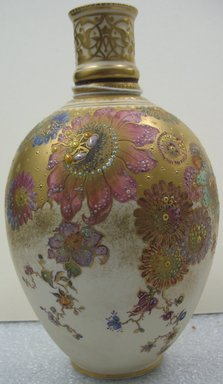 Royal Crown Derby Porcelain Co. (founded 1750). Vase, ca. 1890. Porcelain, 7 5/8 x 4 5/8 x 4 5/8 in. (19.4 x 11.7 x 11.7 cm). Brooklyn Museum, Gift of the Estate of Harold S. Keller, 1999.152.323. Creative Commons-BY