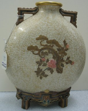 Worcester Royal Porcelain Co. (founded 1751). Vase, 1875. Porcelain, 10 1/2 x 9 3/4 x 4 1/4 in. (26.7 x 24.8 x 10.8 cm). Brooklyn Museum, Gift of the Estate of Harold S. Keller, 1999.152.324. Creative Commons-BY