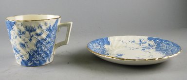Burgess & Leigh Ltd. (1862-1999). Cup and Saucer, 1906-1912. Glazed earthenware, 3 x 5 3/4 x 14.1 in.  (7.6 x 14.6 x 35.8 cm). Brooklyn Museum, Gift of Paul F. Walter, 1999.29.59a-b. Creative Commons-BY
