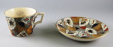 William Till (?). Cup and Saucer, ca. 1880. Glazed earthenware, height: 2 3/4 in. (7.0 cm). Brooklyn Museum, Gift of Paul F. Walter, 1999.29.61a-b. Creative Commons-BY
