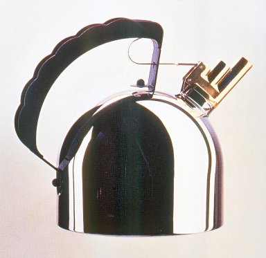 Richard Sapper (German, born 1932). Kettle, Model 9091 FM, Designed 1983. Copper, brass and polyamide, stainless steel., height: (24.0 cm); diameter: (20.0 cm). Brooklyn Museum, Gift of Alessi S.p.A., 1999.40.10. Creative Commons-BY
