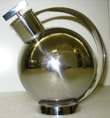 Marianne Brandt (German, 1893-1983). Cocktail Shaker, 'Anonimo,' Model 90021, ca. 1925 (designed), made by Alessi since 1989. Stainless steel, height(18.0 cm); diameter: (13.8 cm). Brooklyn Museum, Gift of Alessi S.p.A., 1999.40.1a-b. Creative Commons-BY
