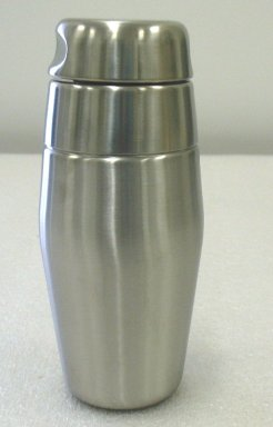 Luigi Massoni and. Cocktail Shaker, Designed 1956. Stainless steel, height: (20.0 cm). Brooklyn Museum, Gift of Alessi S.p.A., 1999.40.7a-c. Creative Commons-BY