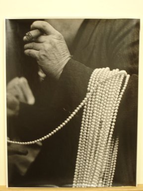 Brooklyn Museum: Man with Pearls over His Arm, Lower East Side, New York City